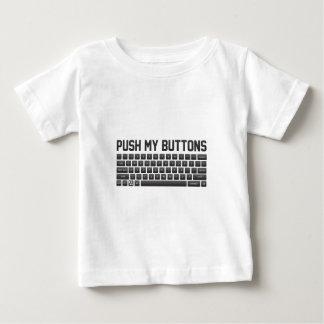 Camiseta Para Bebê Empurre meus botões