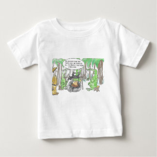 Camiseta Para Bebê Encontrando uma surpresa