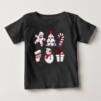 Camiseta Para Bebê Enfeites de natal
