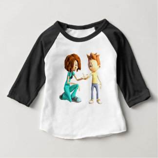 Camiseta Para Bebê Enfermeira e Little Boy dos desenhos animados
