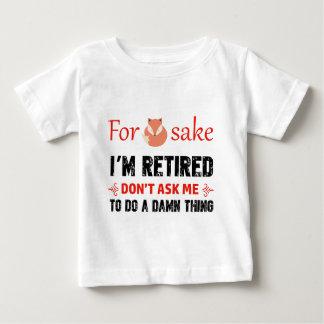 Camiseta Para Bebê Engraçado eu sou design aposentado