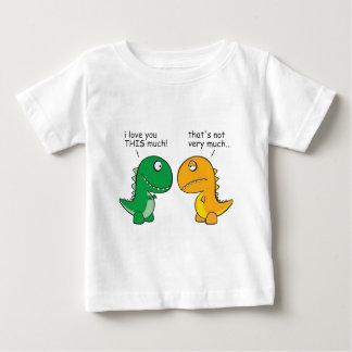 Camiseta Para Bebê engraçado-T-Rex-pequeno-braço-desenhos animados