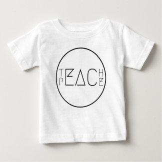Camiseta Para Bebê Ensine a paz