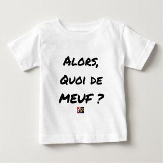 Camiseta Para Bebê ENTÃO, QUAL DE MEUF? - Jogos de palavras