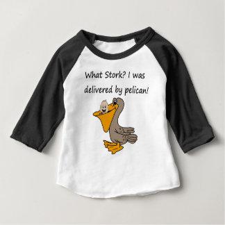 Camiseta Para Bebê Entrega do pelicano