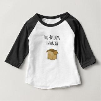 Camiseta Para Bebê Entusiasta da Forte-Construção