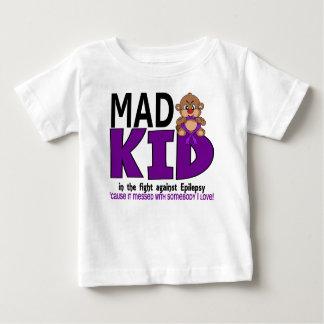 Camiseta Para Bebê Epilepsia louca do miúdo