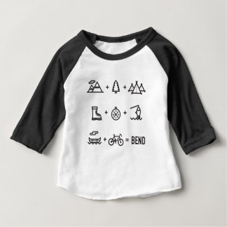 Camiseta Para Bebê Equação das atividades exteriores de Oregon da