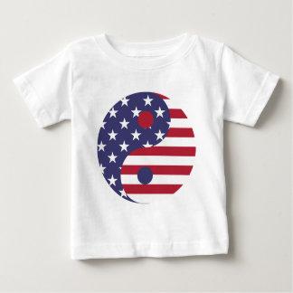Camiseta Para Bebê Equilíbrio do asiático da arte abstracta da