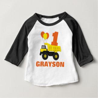 Camiseta Para Bebê Equipamento do aniversário da construção primeiro,