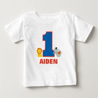 Camiseta Para Bebê Equipamento do aniversário do circo primeiro,
