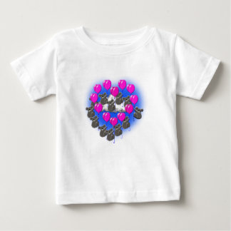 Camiseta Para Bebê equipe da formação do vôo do koala (coração)