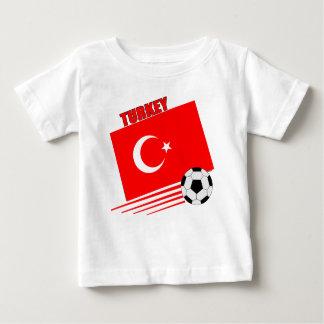 Camiseta Para Bebê Equipe de futebol turca