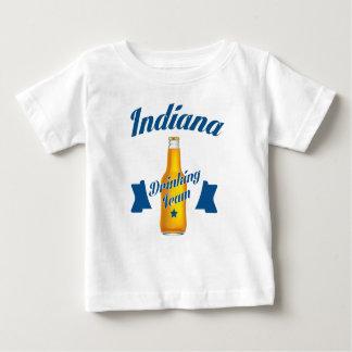 Camiseta Para Bebê Equipe do bebendo de Indiana