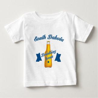 Camiseta Para Bebê Equipe do bebendo de South Dakota