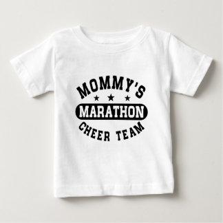 Camiseta Para Bebê Equipe do elogio da maratona da mamã