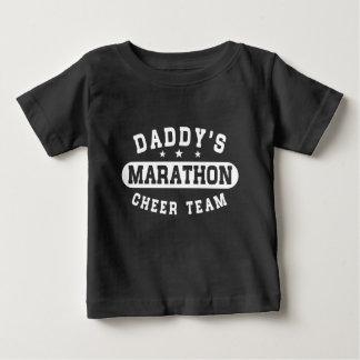 Camiseta Para Bebê Equipe do elogio da maratona do pai