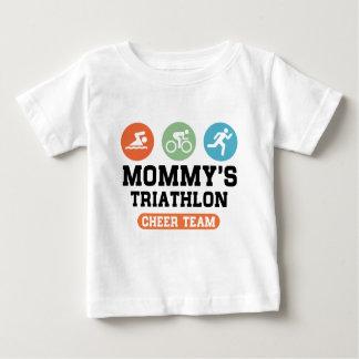 Camiseta Para Bebê Equipe do elogio do Triathlon da mamã