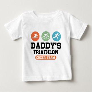 Camiseta Para Bebê Equipe do elogio do Triathlon do pai