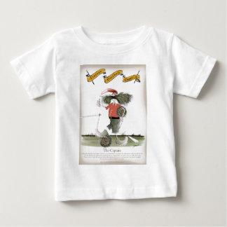 Camiseta Para Bebê equipe do vermelho do capitão do futebol