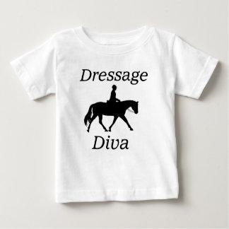 Camiseta Para Bebê Equitação da diva do adestramento
