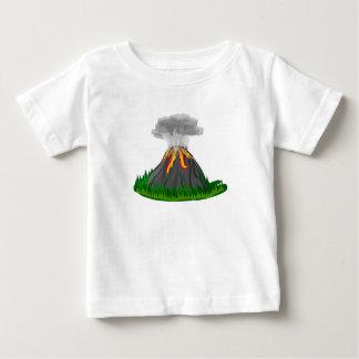 Camiseta Para Bebê erupção do fogo do vulcão
