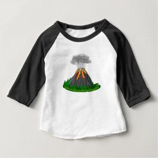 Camiseta Para Bebê erupção e fogo do vulcão