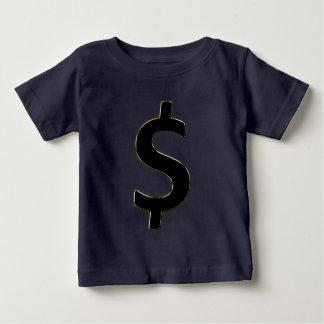 Camiseta Para Bebê $ esboçado ouro