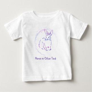 Camiseta Para Bebê Esboço azul/roxo do coelho de coelho com seu