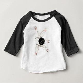 Camiseta Para Bebê Esboço da bola de boliche