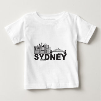 Camiseta Para Bebê Esboço do texto de Sydney Austrália Sklyine