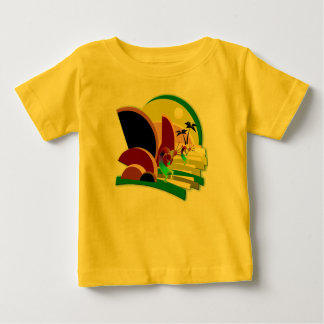 Camiseta Para Bebê Escadas de escalada de Kokopelli a Sun