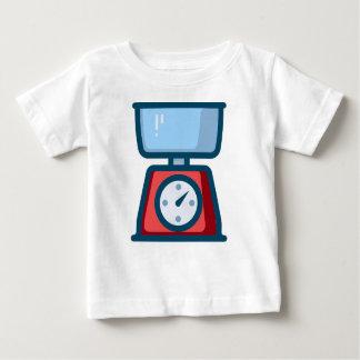 Camiseta Para Bebê Escala da comida