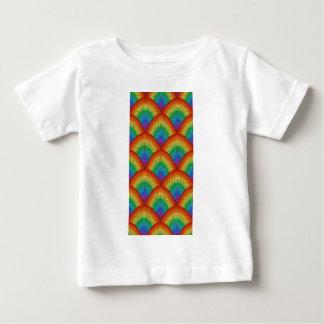 Camiseta Para Bebê escalas do arco-íris