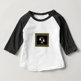 Camiseta Para Bebê escalas quadro de justiça