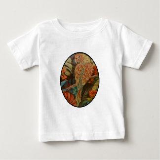 Camiseta Para Bebê Escarlate do papagaio
