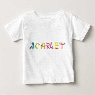 Camiseta Para Bebê Escarlate do t-shirt do bebê