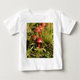 Camiseta Para Bebê Escarlate dos fungos da capa, coccinea do