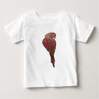 Camiseta Para Bebê Escarlate vermelho