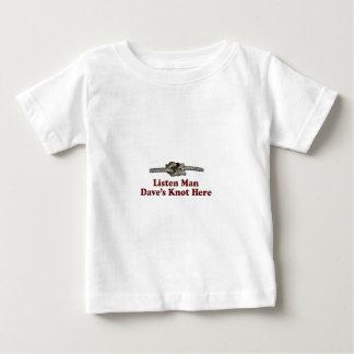 Camiseta Para Bebê Escutam os Multi-Produtos do nó de Dave do homem
