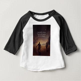 Camiseta Para Bebê Escute com curiosidade falam com o ato da