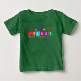Camiseta Para Bebê Esfrie a menos que março para o Dia da Terra 2017