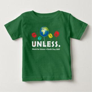 Camiseta Para Bebê Esfrie a menos que o Dia da Terra 2017 da ciência