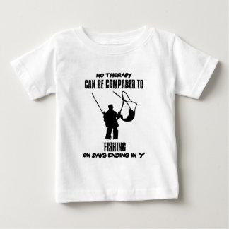 Camiseta Para Bebê esfrie e tendendo o DESIGN da pesca
