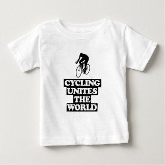 Camiseta Para Bebê esfrie e tendendo o DESIGN do ciclismo
