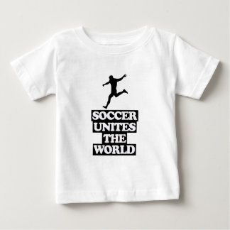 Camiseta Para Bebê esfrie e tendendo o DESIGN do futebol