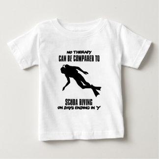 Camiseta Para Bebê esfrie e tendendo o DESIGN do mergulho autónomo
