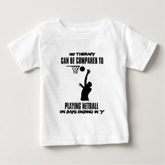 Camiseta Para Bebê esfrie e tendendo o DESIGN do netball