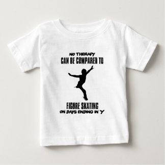 Camiseta Para Bebê esfrie e tendendo o DESIGN do patinagem artística
