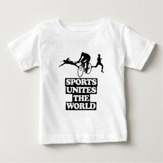 Camiseta Para Bebê esfrie e tendendo o DESIGN dos esportes